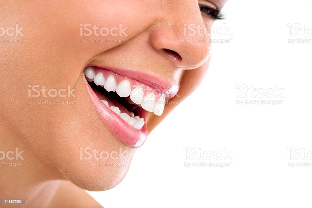 Beautiful woman smile stock photo