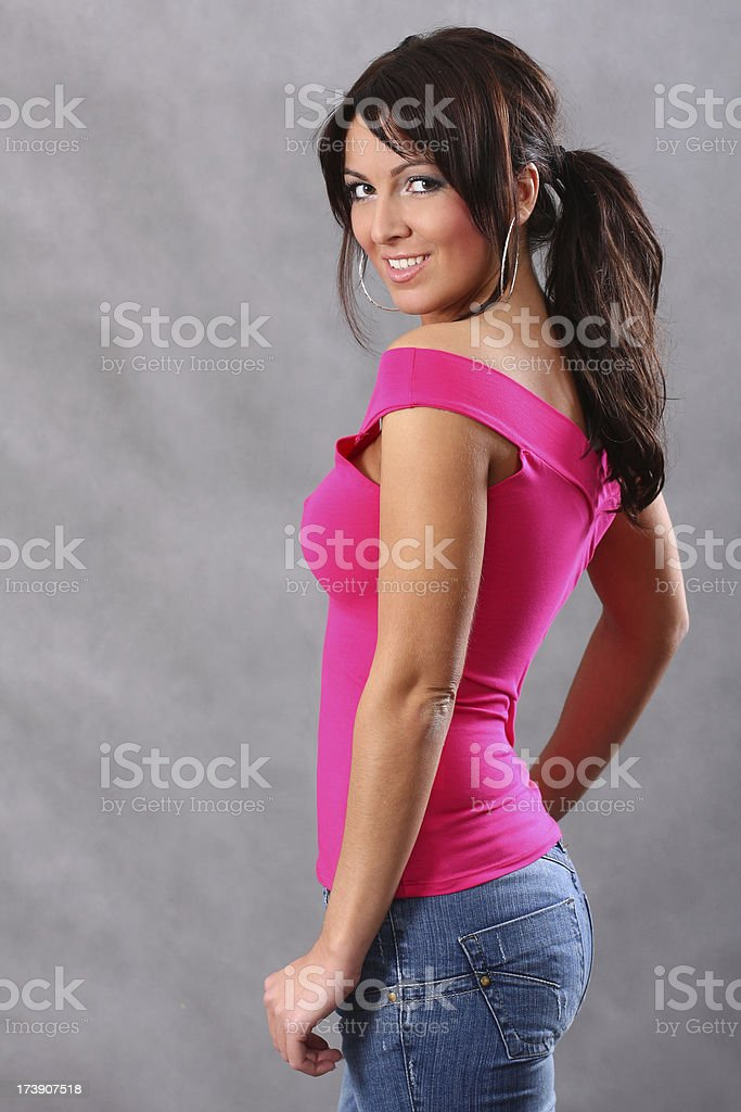 Beautiful woman smiling. royalty-free stock photo
