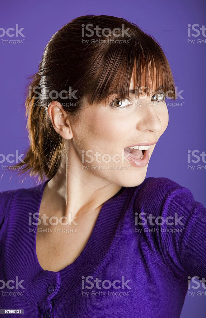 Beautiful woman smilling royalty free stockfoto