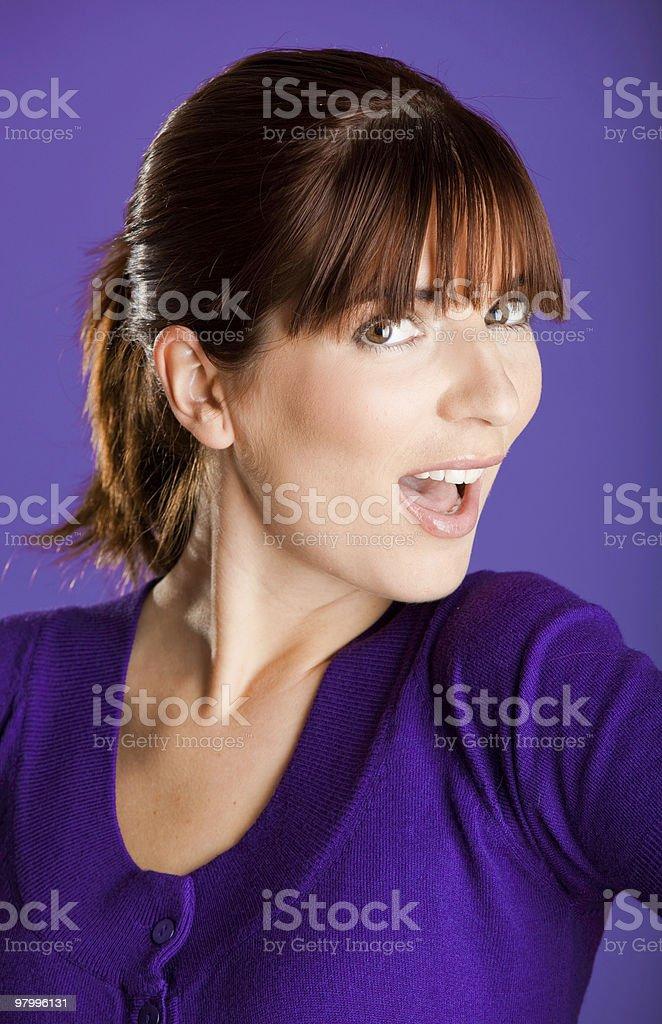 Beautiful woman smilling royalty-free stock photo