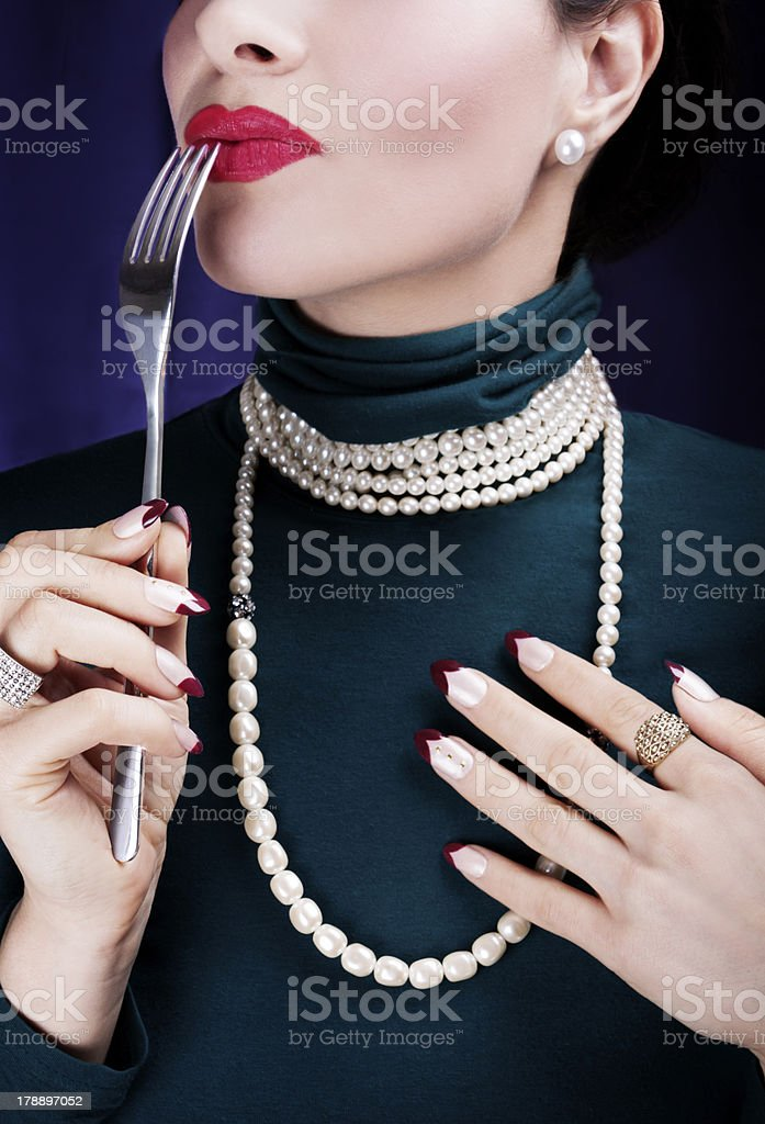 Beautiful woman tasting life... royalty-free stock photo