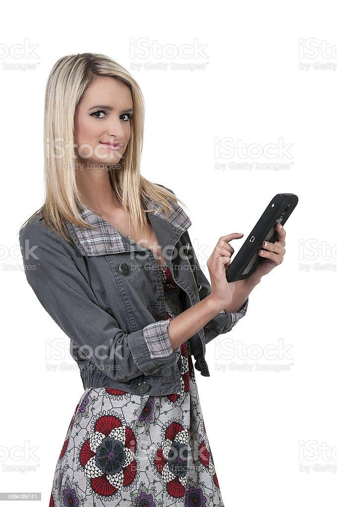 Beautiful Woman Texting stock photo