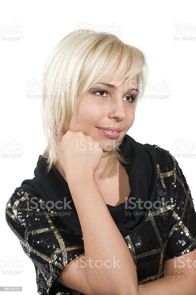 Beautiful woman the blonde royalty-free stock photo