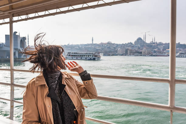 Cтоковое фото Beautiful woman traveller travels in Istanbul,Turkey