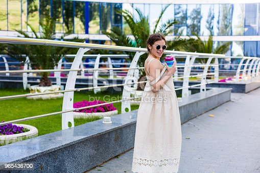 Beautiful Woman Walking In The Summer City Stock Photo & More Pictures of Adult