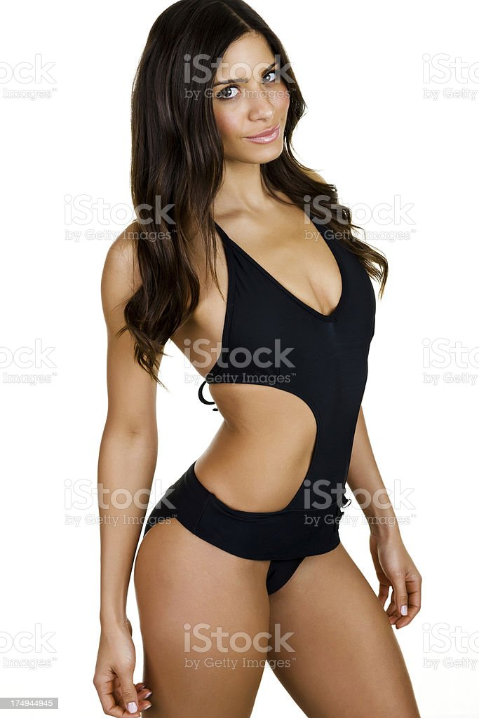 Beautiful woman wearing a bikini royalty-free stock photo