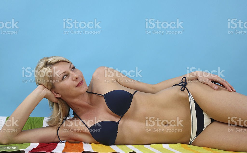 Beautiful woman wearing a bikini royalty-free stock photo