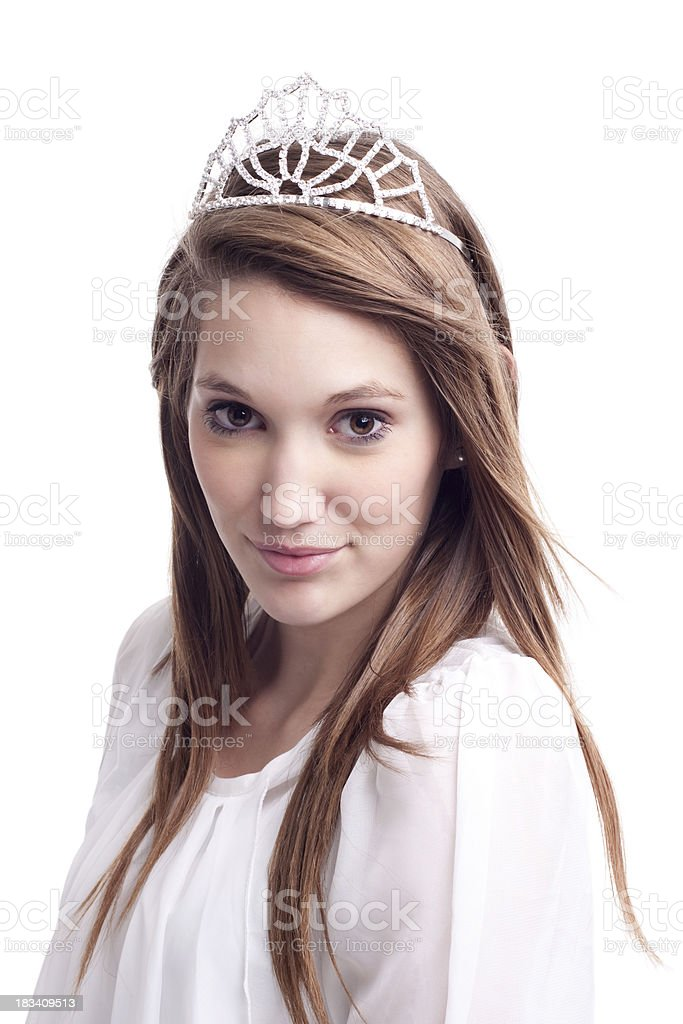 Beautiful Woman Wearing a Crown royalty-free stock photo