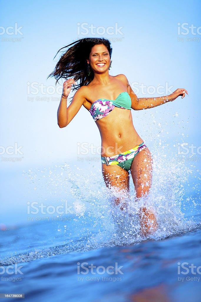 Beautiful woman wearing bikini royalty-free stock photo