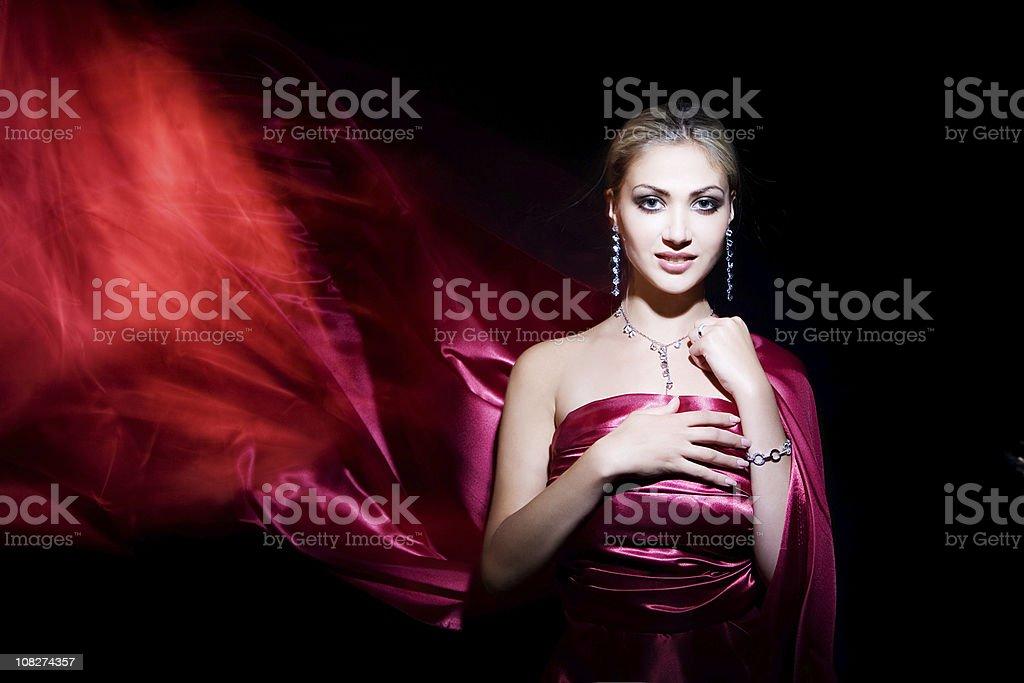 Beautiful Woman Wearing Jewelry royalty-free stock photo