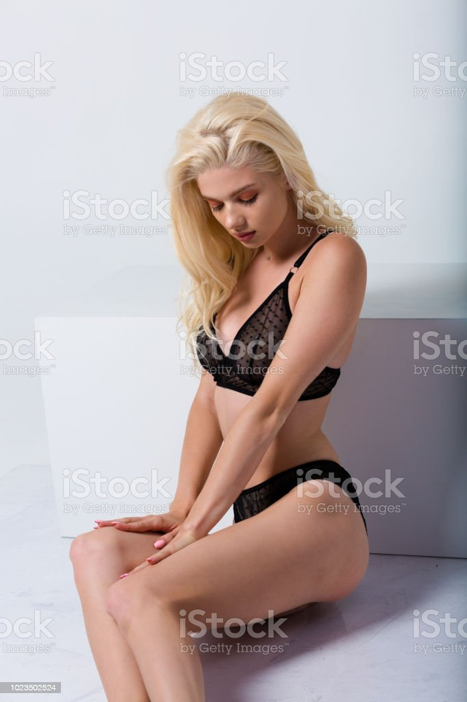 a785c06fd56 Beautiful Woman Wearing Sexy Lingerie Stock Photo   More Pictures of ...