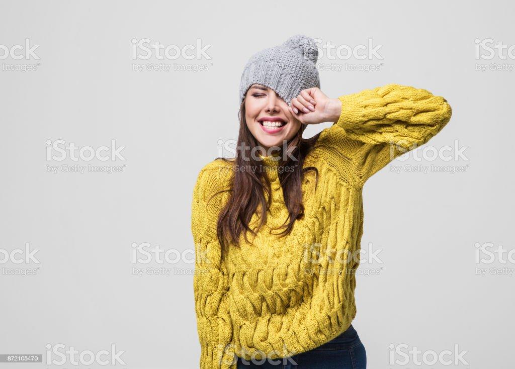 Schöne Frau winter portrait – Foto