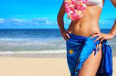Beautiful Woman with a Hawaiin Lei