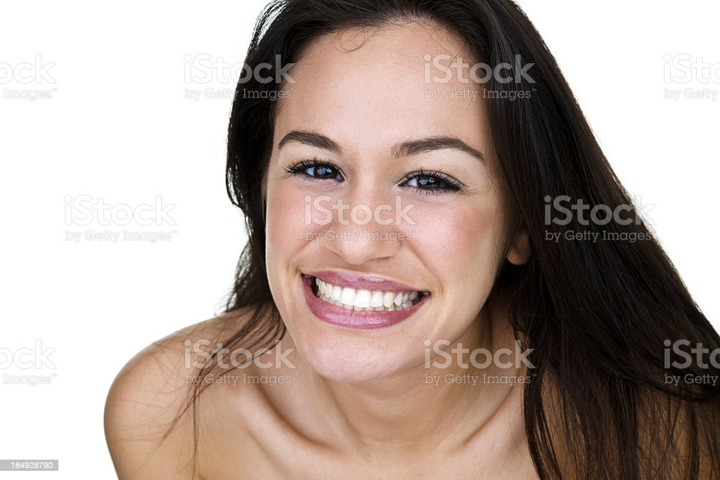 Beautiful woman with a terrific smile royalty-free stock photo
