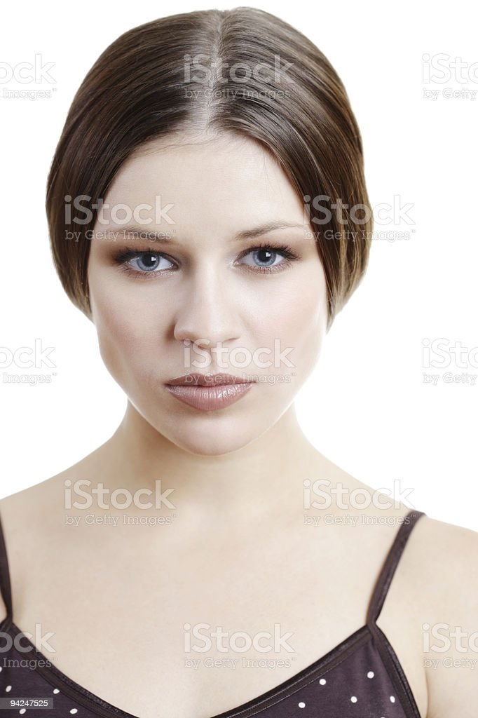 Beautiful woman with blue eyes royalty-free stock photo
