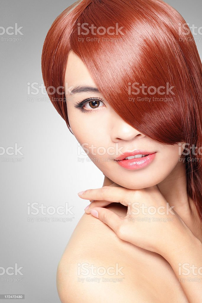 Beautiful Woman with brown Hair royalty-free stock photo