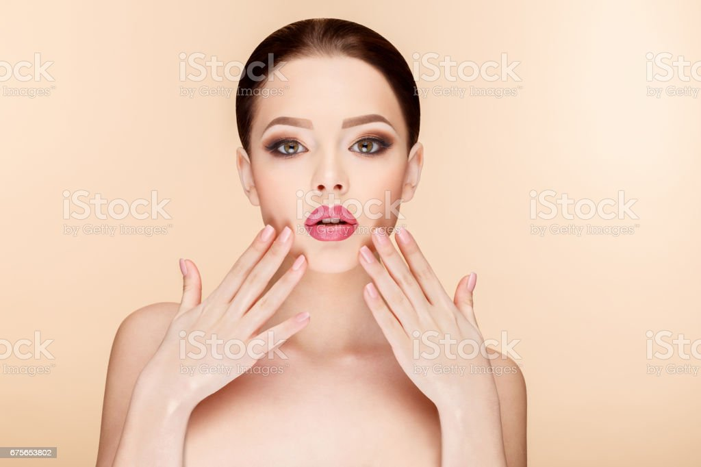 Beautiful Woman with Clean Fresh Skin royalty-free stock photo