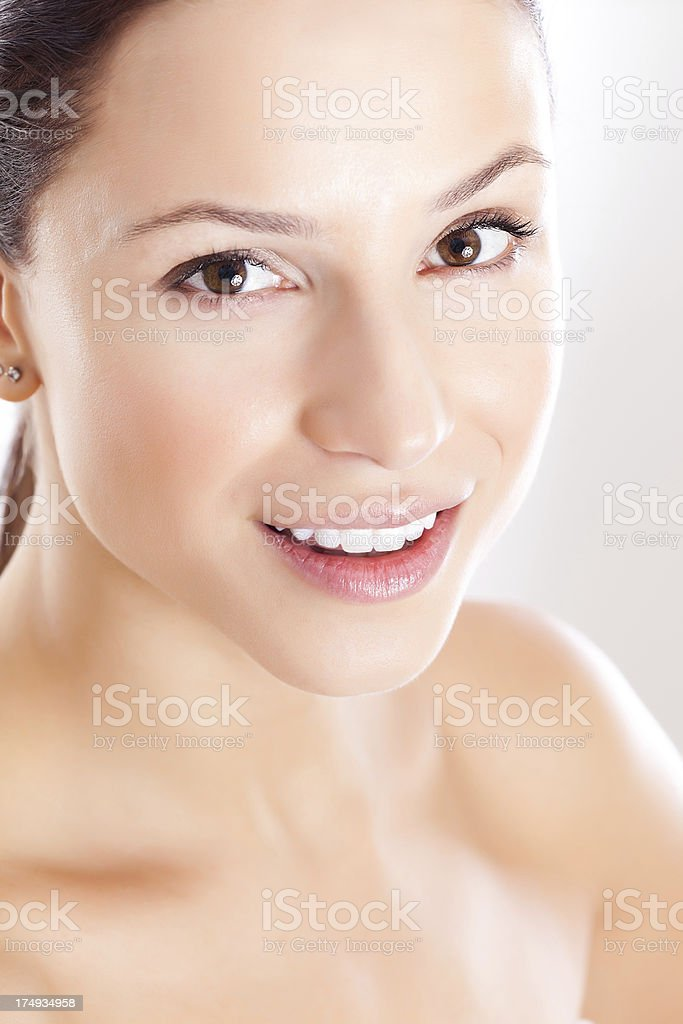 Beautiful Woman with Clear Skin royalty-free stock photo
