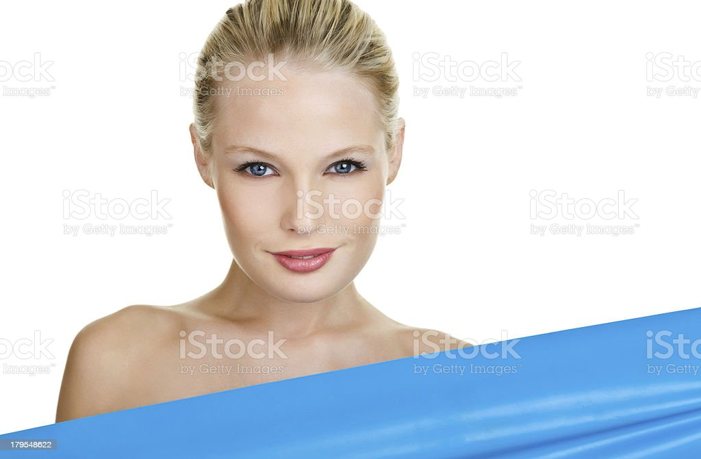 Beautiful woman with copy space royalty-free stock photo