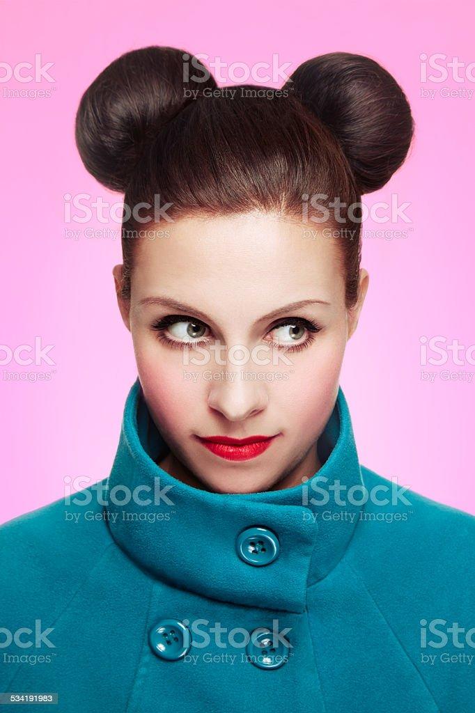 Schone Frau Mit Niedlichen Micky Maus Style Stockfoto Und Mehr