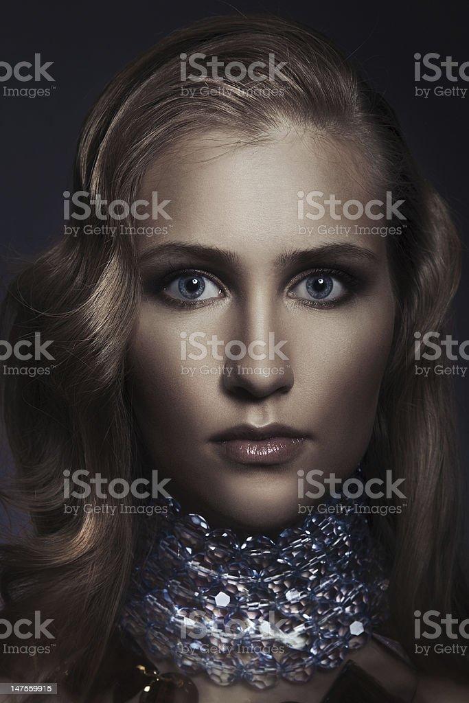 Beautiful woman with evening make-up. Jewelry and Beauty. Fashion photo royalty-free stock photo