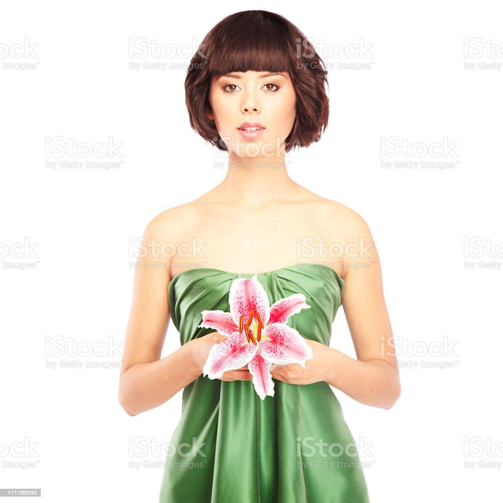 Beautiful woman with flower stock photo more pictures of 20 24 beautiful woman with flower royalty free stock photo izmirmasajfo