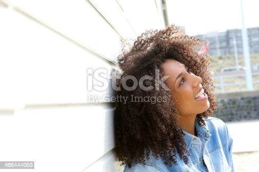 istock Beautiful woman with happy expression 486444053