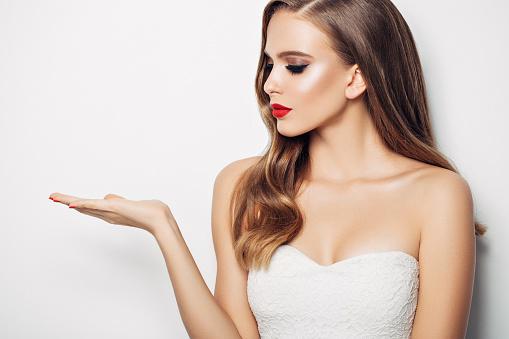 istock Beautiful woman with long hair 1136036803