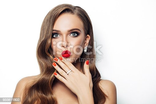 856575766istockphoto Beautiful woman with long hair 933811802