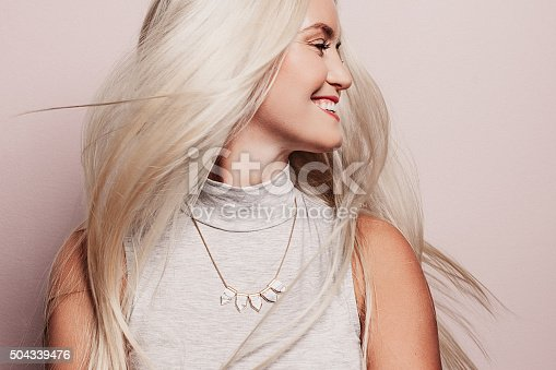 Beautiful woman with long pretty hair