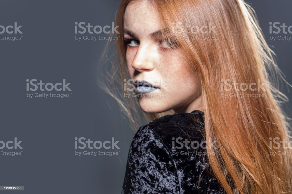 Beautiful woman with long red hair - Royalty-free Adult Stock Photo