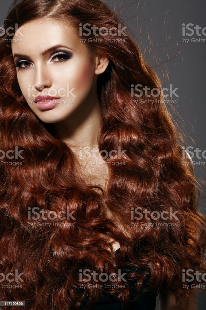 Beautiful woman with luxury hair royalty-free stock photo