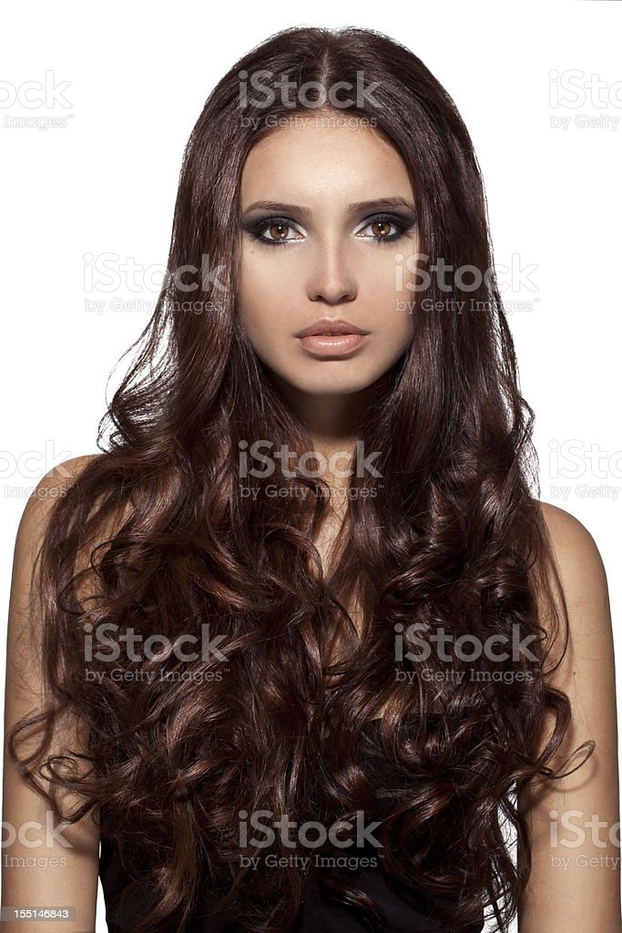 Beautiful woman with luxury hairs royalty-free stock photo