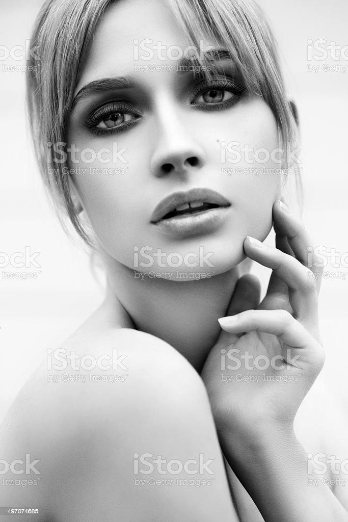 Schöne Frau mit make-up – Foto