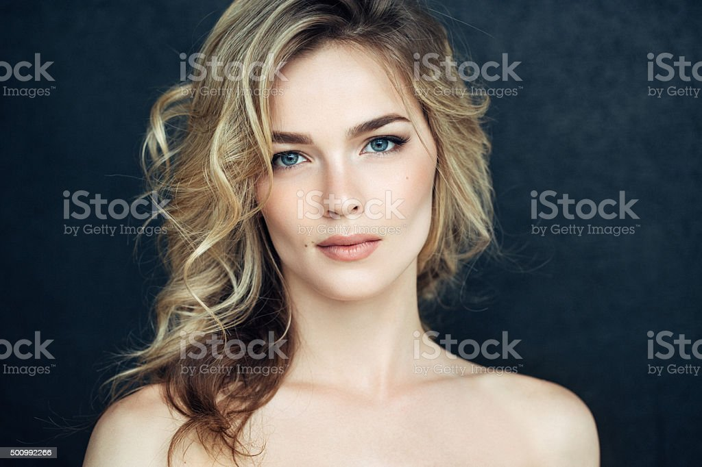 Beautiful woman with make up stok fotoğrafı
