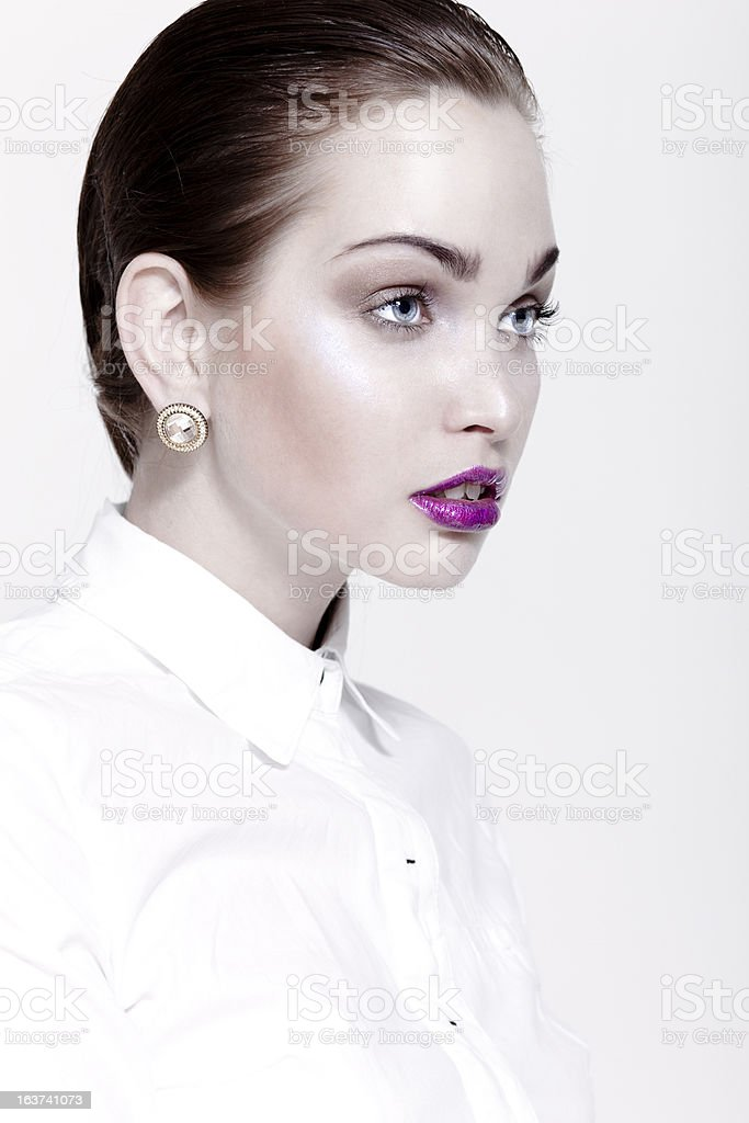 Beautiful woman with make-up royalty-free stock photo