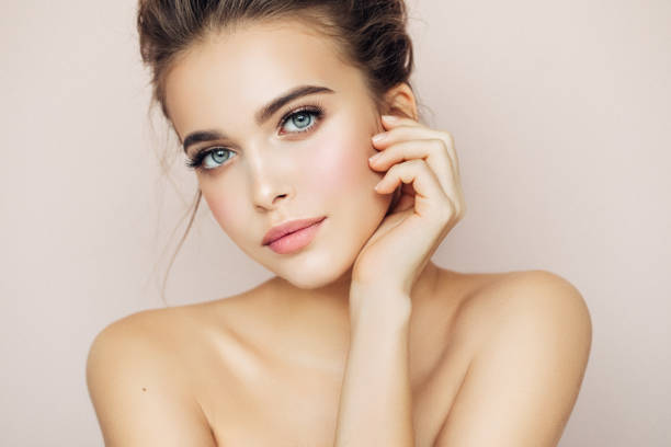 beautiful woman with make-up - beautiful woman stock photos and pictures