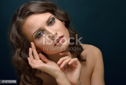 istock beautiful woman with naked shoulders. 519753283