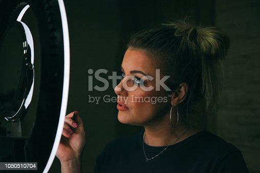 897056188 istock photo Beautiful woman with natural make-up 1050510704