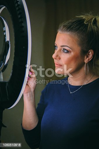 897056188 istock photo Beautiful woman with natural make-up 1050510918