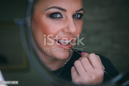 897056188 istock photo Beautiful woman with natural make-up 1050510926