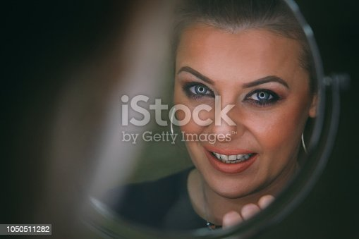 897056188 istock photo Beautiful woman with natural make-up 1050511282