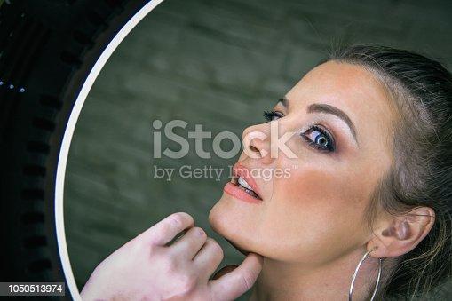 897056188 istock photo Beautiful woman with natural make-up 1050513974