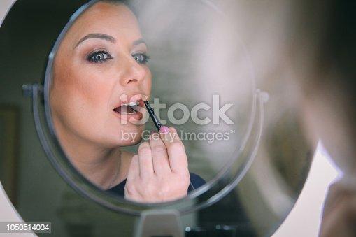 897056188 istock photo Beautiful woman with natural make-up 1050514034