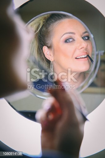 897056188 istock photo Beautiful woman with natural make-up 1050514138