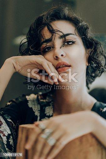 897056188 istock photo Beautiful woman with natural make-up 1066619176