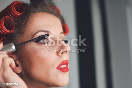 897056188 istock photo Beautiful woman with natural make-up 1136681751