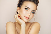 istock Beautiful woman with natural make-up 897056188