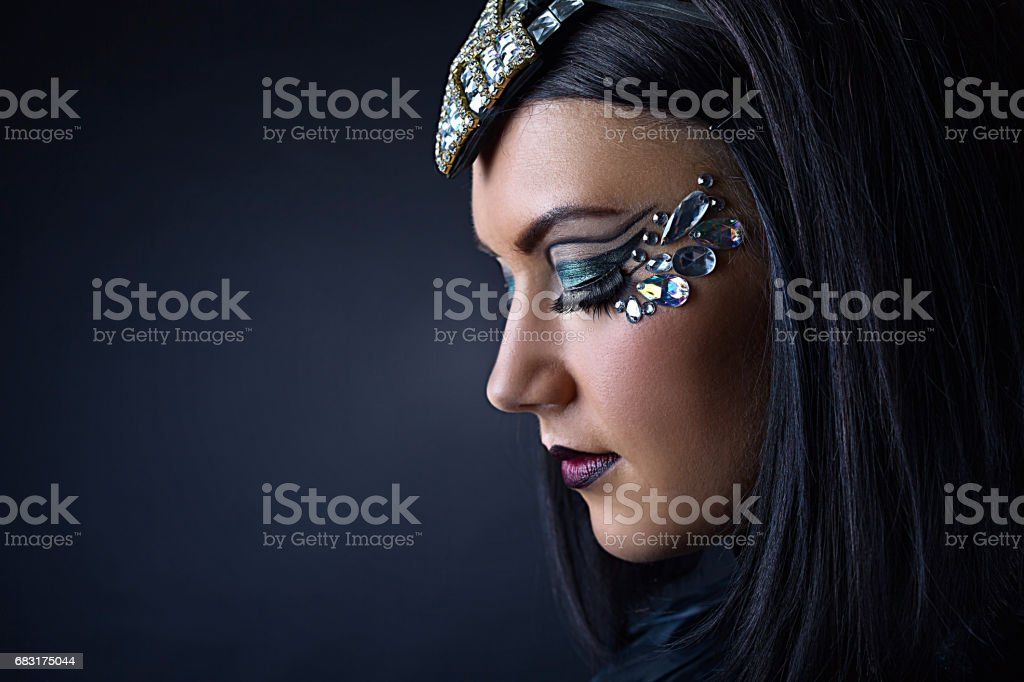 美麗的女人的水鑽飾品 免版稅 stock photo