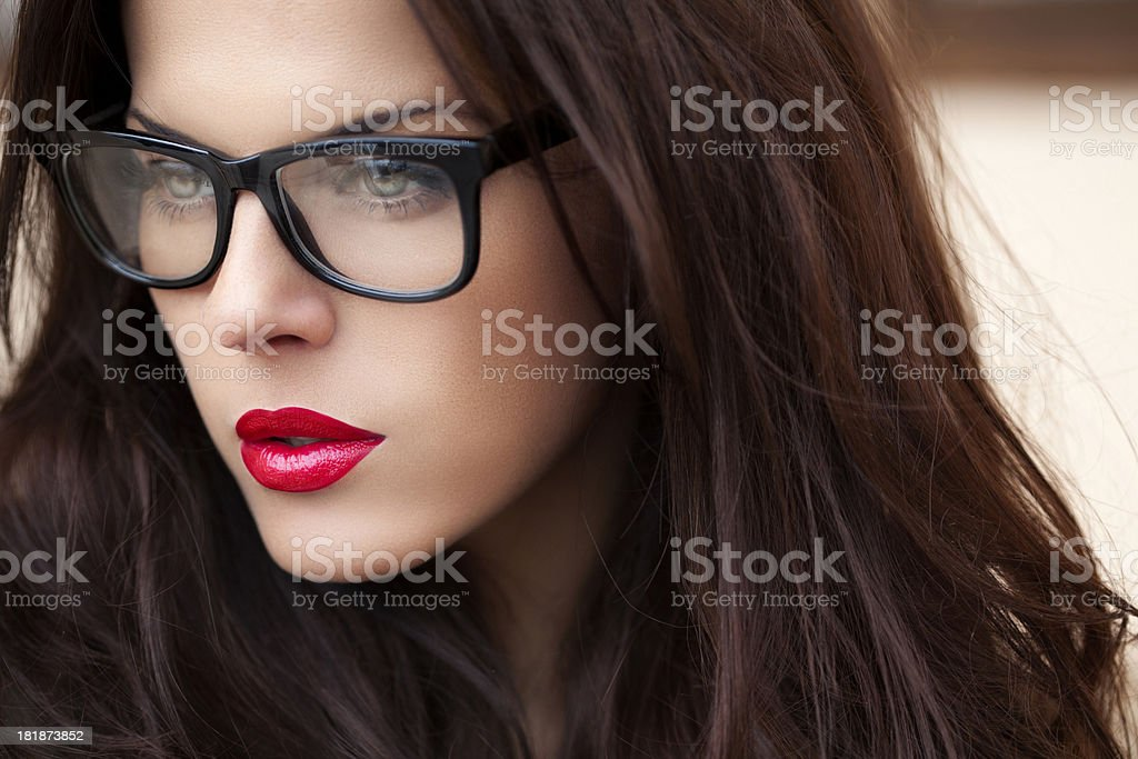 Beautiful woman with perfect face royalty-free stock photo